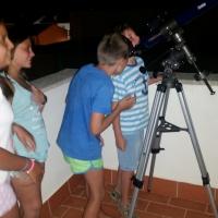 Campus de verano 2016 observando La Luna