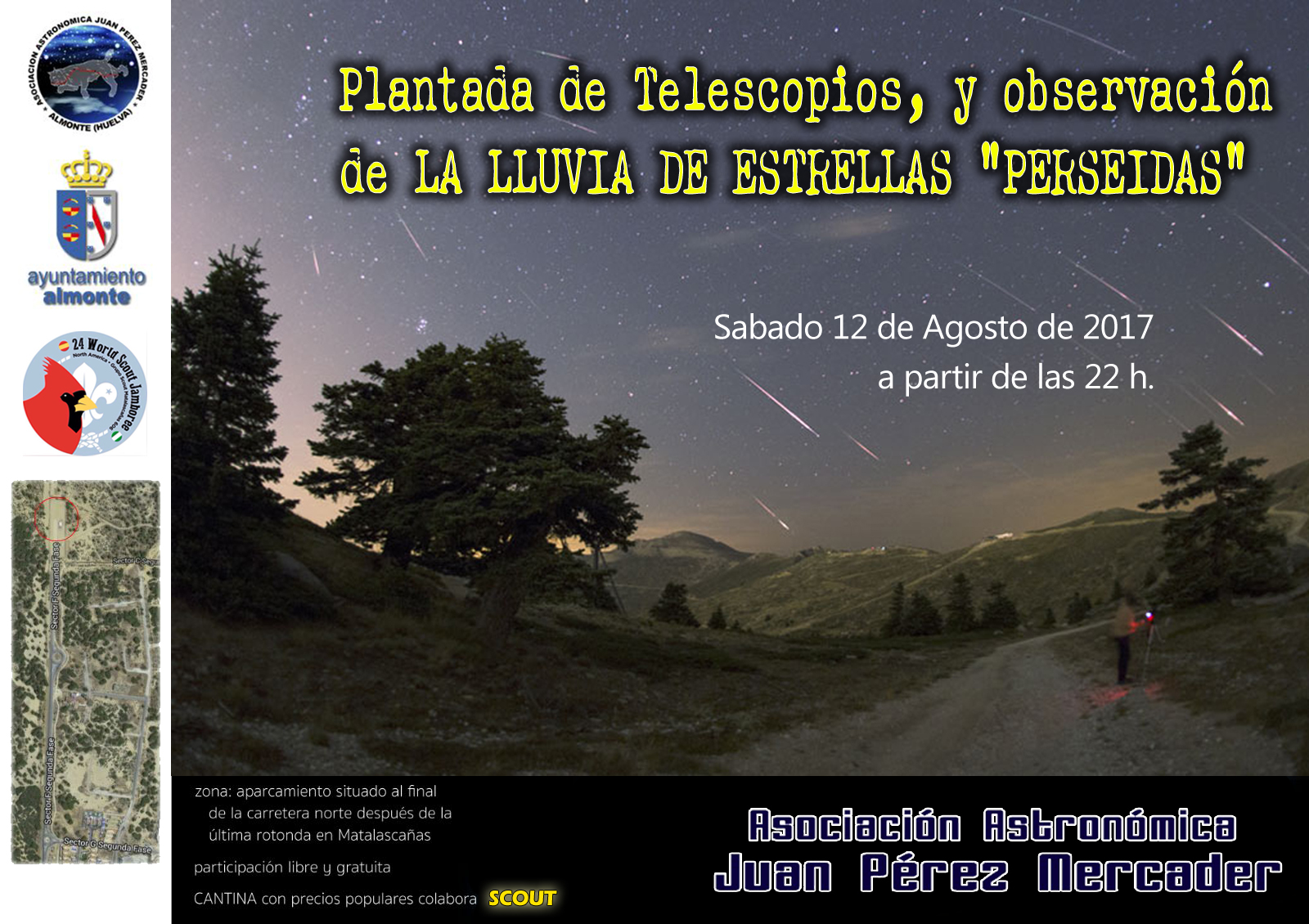 Cartel Plantada-Perseidas 2017